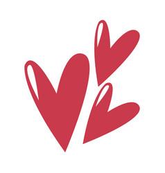 cute heart love comic symbol vector image