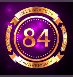 eighty four years anniversary celebration with vector image