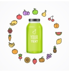 Juice Bottle Jar Template vector image