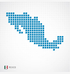 mexico map and flag icon vector image