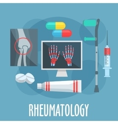 Rheumatology flat icon for healthcare design vector image vector image