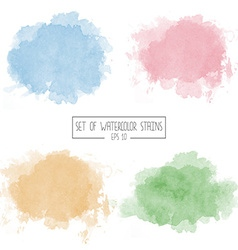 Set of color watercolor stains vector image