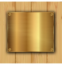 gold on a wood vector image vector image