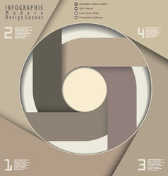 Infographic modern design vector image