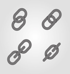 Links icons symbols set vector image vector image