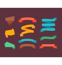 Retro flat ribbons vector image vector image