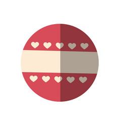 round decoration emblem vector image