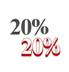 20 discount design vector
