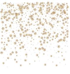 beautiful christmas golden snowflake background vector image vector image