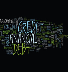 let s talk about debt text background word cloud vector image vector image
