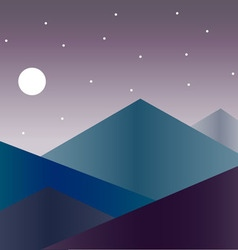 Mountains isolated on backgrounds vector image