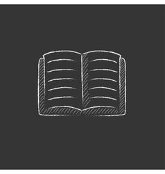 Open book Drawn in chalk icon vector image vector image