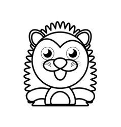 porcupine animal toy outline vector image vector image