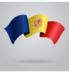 Andorran waving Flag vector image