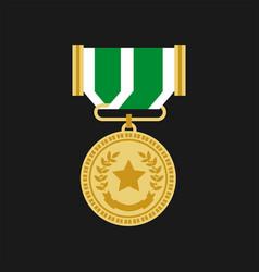 champion or veteran medal award chevron vector image