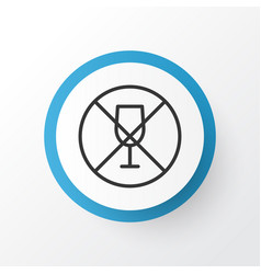 no drinking icon symbol premium quality isolated vector image