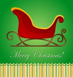 Santa sleigh Christmas card vector image vector image