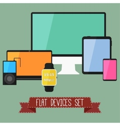 Set of Modern Business UI Devices vector image