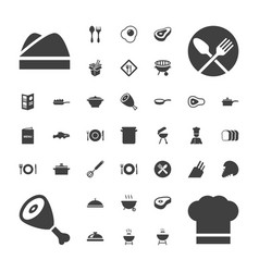37 cook icons vector