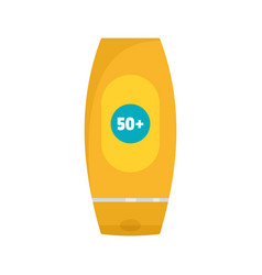 50 sun protection creme icon flat style vector