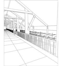 abstract industrial building constructions milk vector image