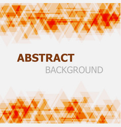 abstract orange triangle overlapping background vector image
