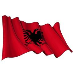 albania flag vector image