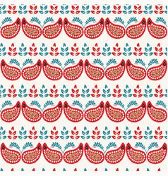 Boho flower paisley all over print seamless vector