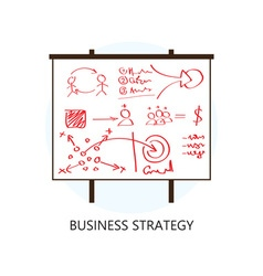 Business strategy concept flat design icon vector
