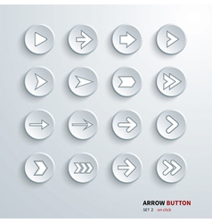 button arrow sign icon set vector image
