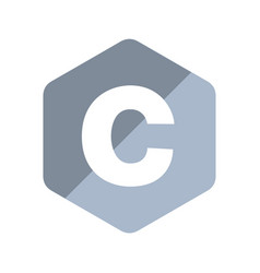 c programming language emblem vector image