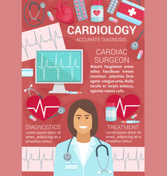 Cardiology cardiac surgeon diagnostics treatment vector