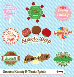 Carnaval Treats and Candy Labels vector image