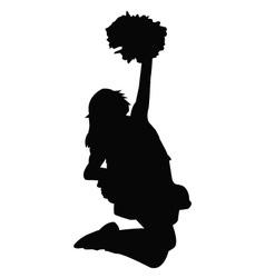 Cheerleader silhouette vector