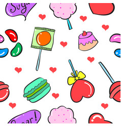 Collection stock of sweet candy doodles vector