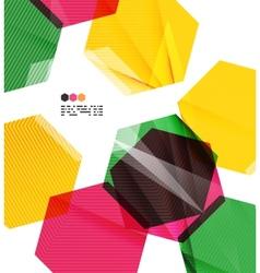 Colorful geometric modern design template vector