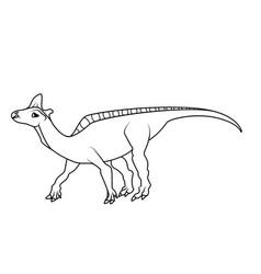 coloring book lambeosaurus dinosaur vector image