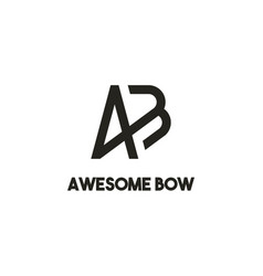 Creative modern monogram logo letter a b and bow vector