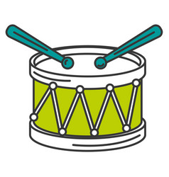 Drum musical instrument icon vector