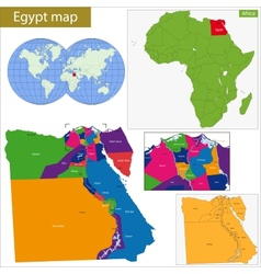 Egypt map vector image