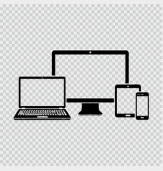 Electronic devices icons vector