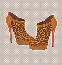 fancy high heels vector image