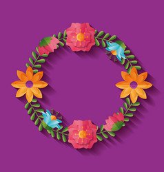 flower wreath decoration vector image