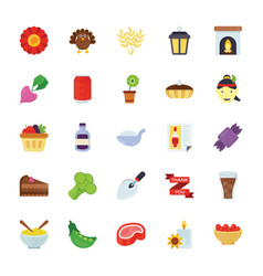 Food and gifts icons vector