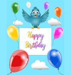 funny happy birthday card vector image