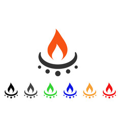 Gas burner jet flame icon vector