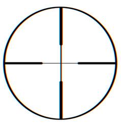 Glitch gun point geometric aim with broken pixel vector