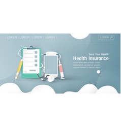 In concept health insurance template element vector