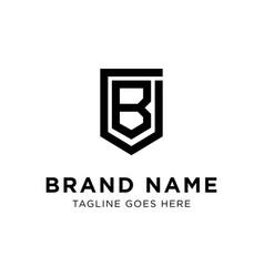 initial b logo design vector image