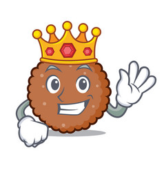 King chocolate biscuit mascot cartoon vector
